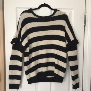 Sweaters - Black and white striped sweater
